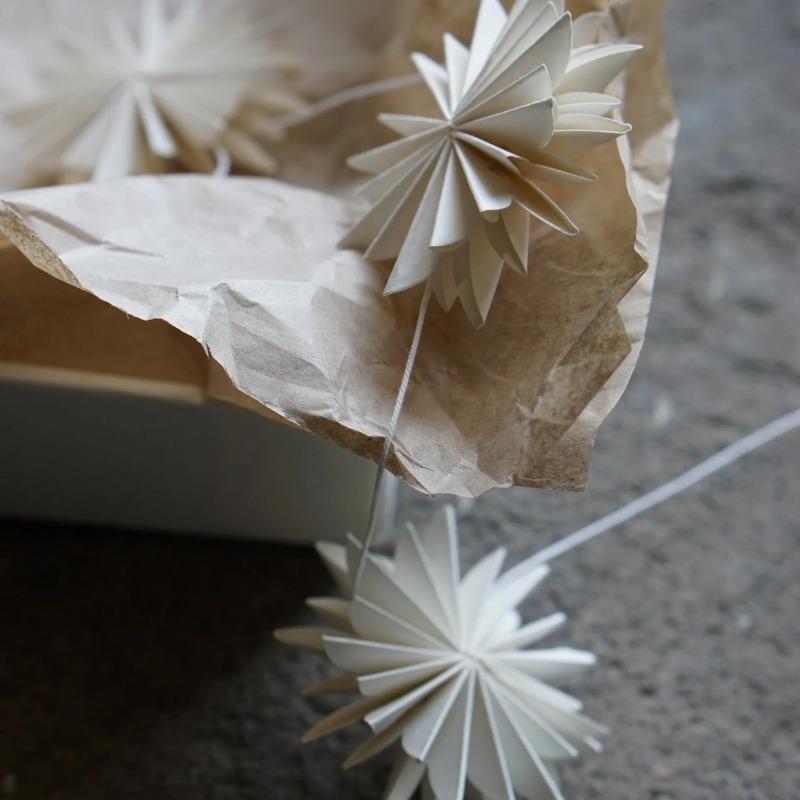 Papier-Girlande Schneeflocken  3 Meter Lang, Dbkd